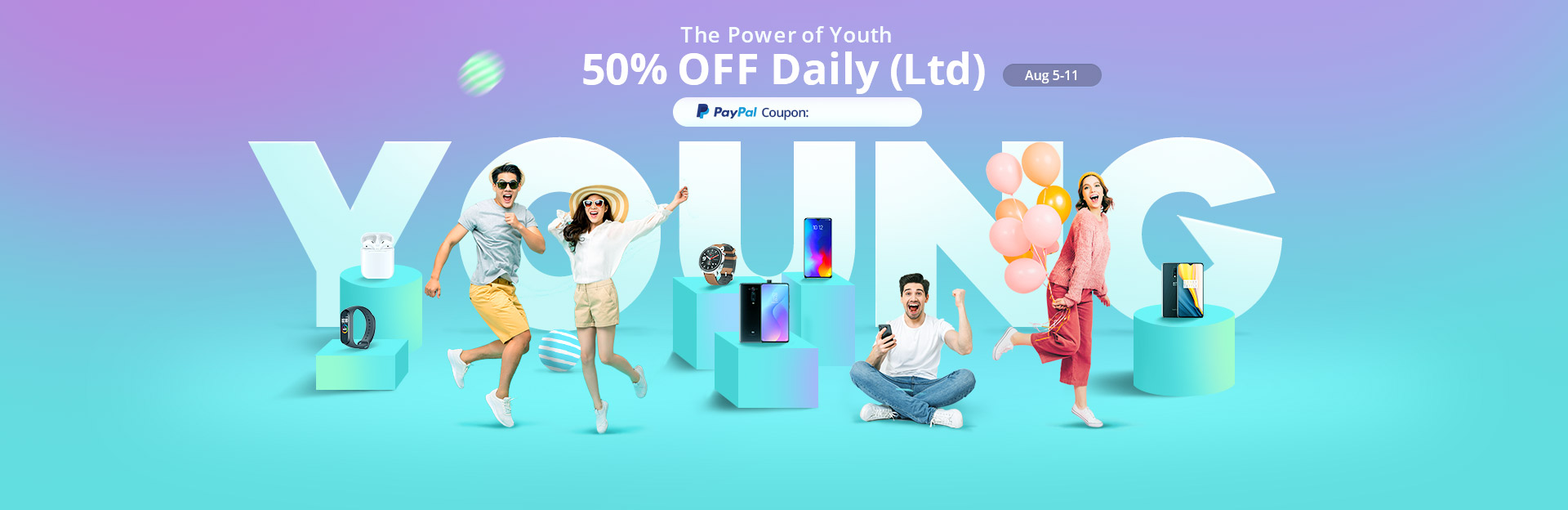 The Power of Youth Flash Sale 50% Off Daily