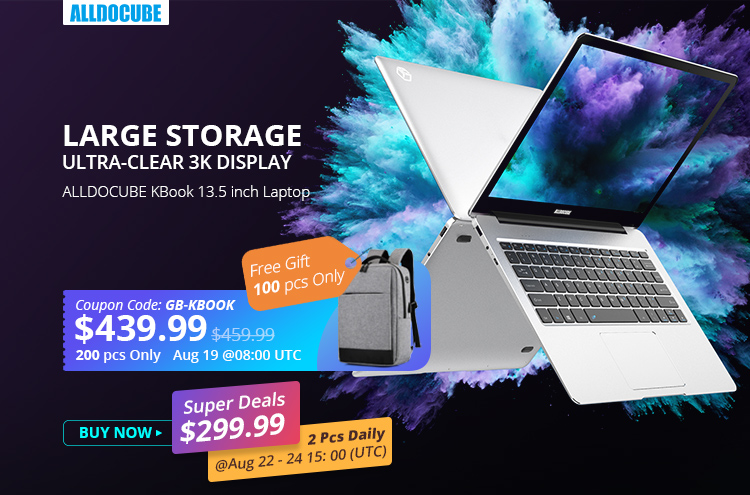 ALLDOCUBE KBook Laptop Flash Sale $439 99 With Free Gift
