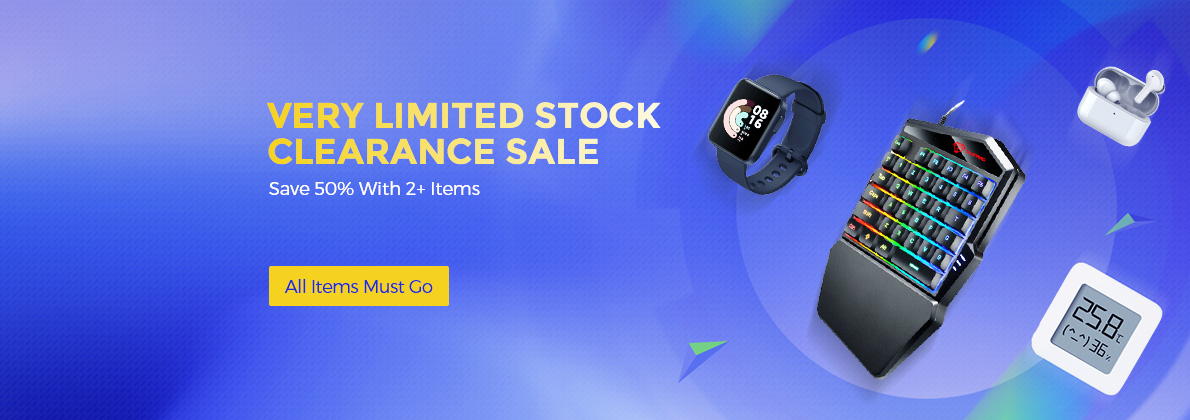 Gearbest - Clearance Sale – Get 50% off on all products