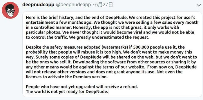 DeepNude clones and open source versions appear in the