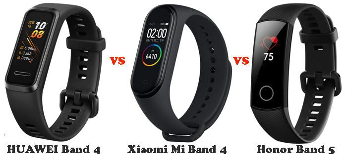 Huawei Band 4 Vs Honor Band 5 Vs Xiaomi Mi Band 4 Full Specifications Compare Gearbest Blog