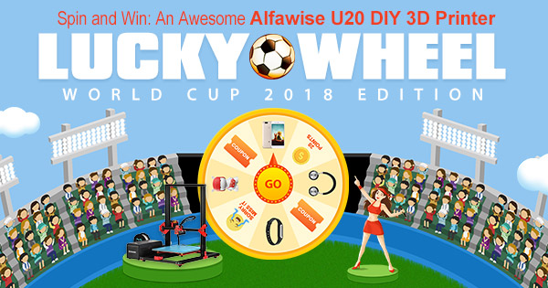 2018 Mid Year Sale Lucky Wheel Game Win Alfawise Diy 3d