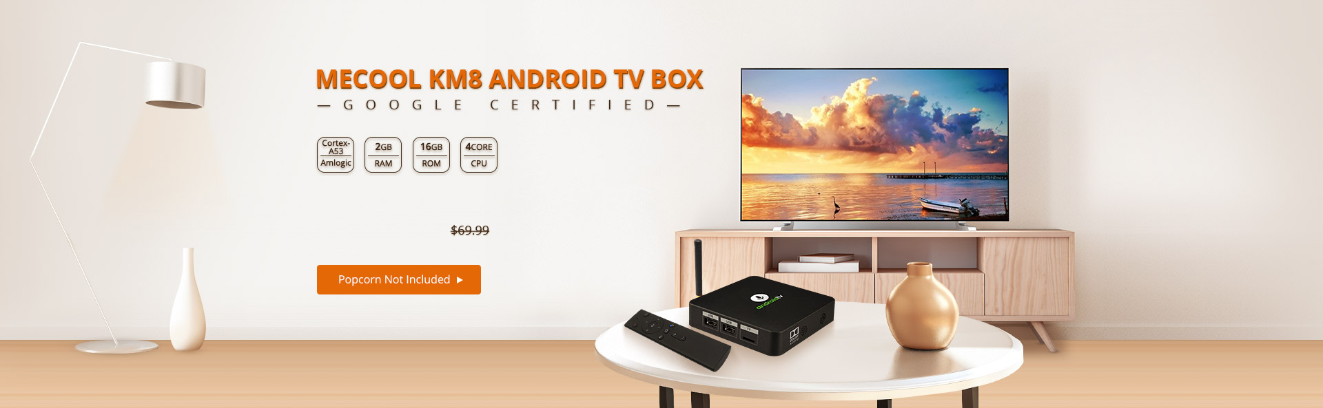 Best Budget Android TV Box Mecool KM8 Flash Sale from $59 99