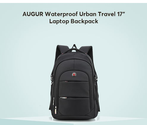 "MAUGUR Waterproof Urban Travel 17"" Laptop Backpack"