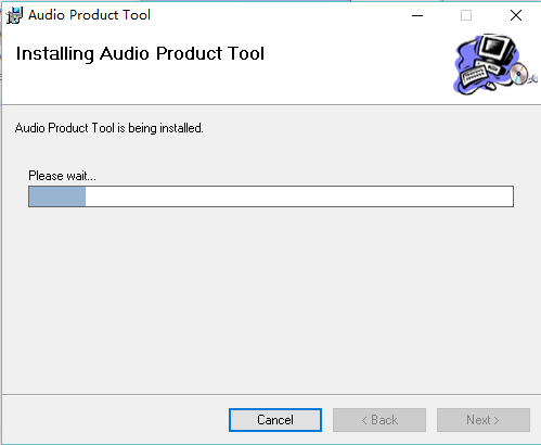 installing audio product tool
