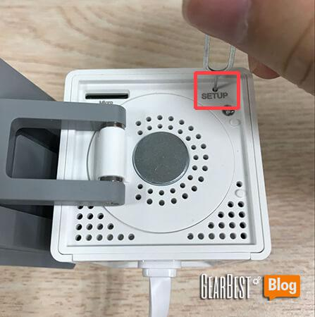 setup hole of Xiaomi Xiaofang 1080P smart IP camera