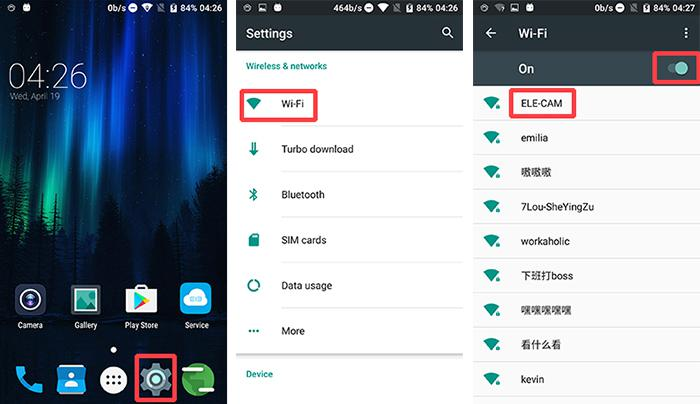 Connect Android phone to ELE Explorer's WiFi signal