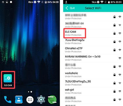 connect ELE Explorer to Android phone throgh app