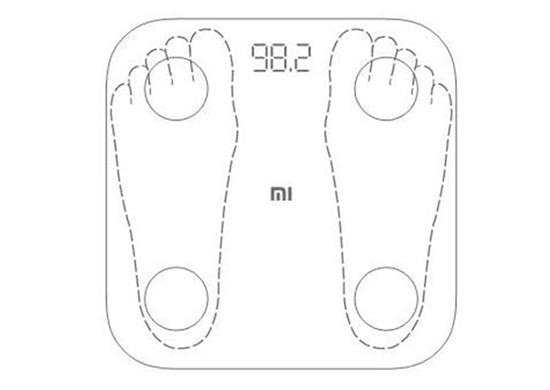 step on Xiaomi body fat scale