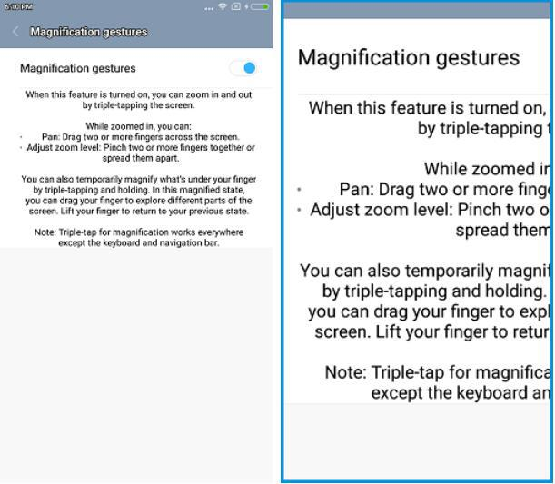 Magnification Gestures