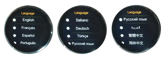 GW01 smartwatch supports 11 languages