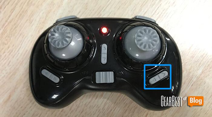 press the below button to fine tune JJRC H36