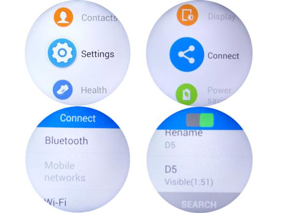 Turn on Bluetooth of NO.1 D5 smart watch