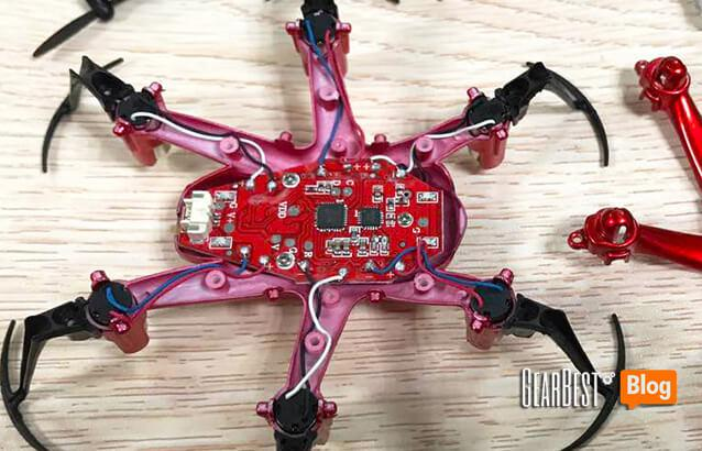 JJRC H20 hexacopter's circuit board