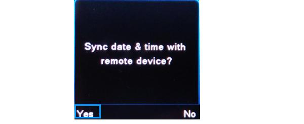 sync date and time with your phone