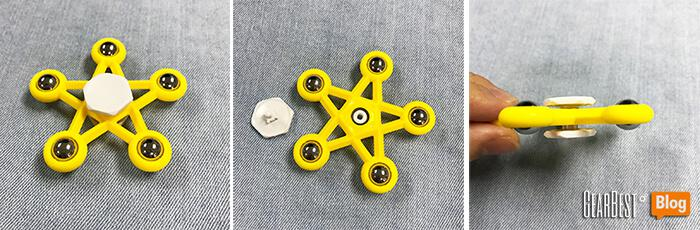 Small star fidget spinner detailed images