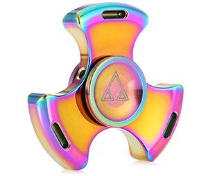 Three-blade stainless steel ADHD fidget tri-spinner