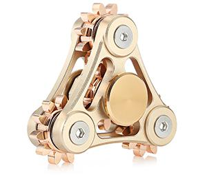 Tri-spinner linkage fidget spinner stress relief toy relaxation gift
