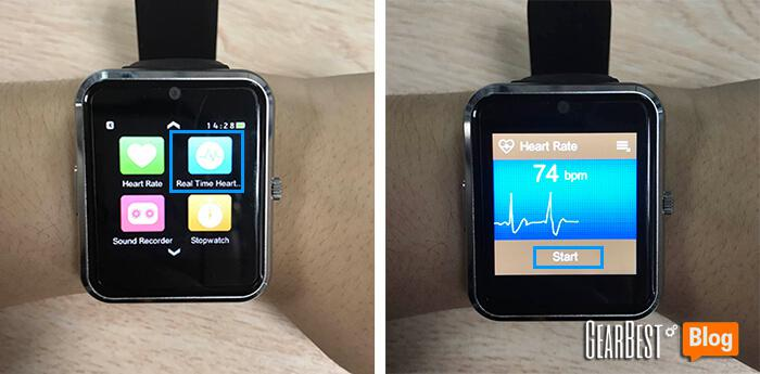 start to use heart rate detection feature