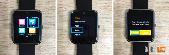 reset Haier Iron smart watch