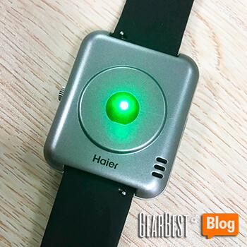 Haier Iron smart watch's working green light