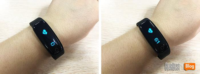 Teclast H30 smart band's heart rate detection function