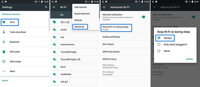 Setting WIFI interface