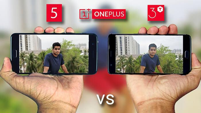 rear camera comparison of OnePlus 5 and onePlus 3T
