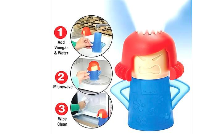 Angry Mom Rubber Microwave Steam Cleaner
