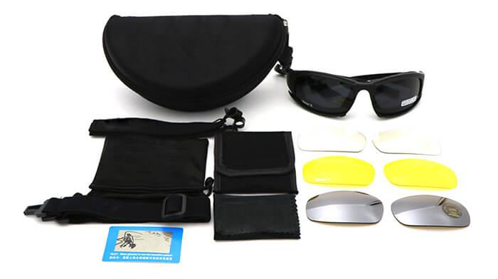 Military Goggles with 4 Interchangeable Lenses