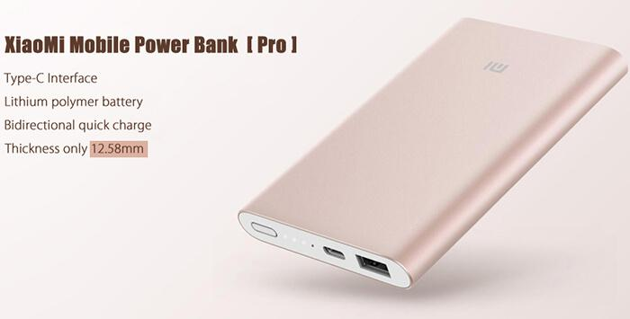 Original Xiaomi Power Bank, type-C
