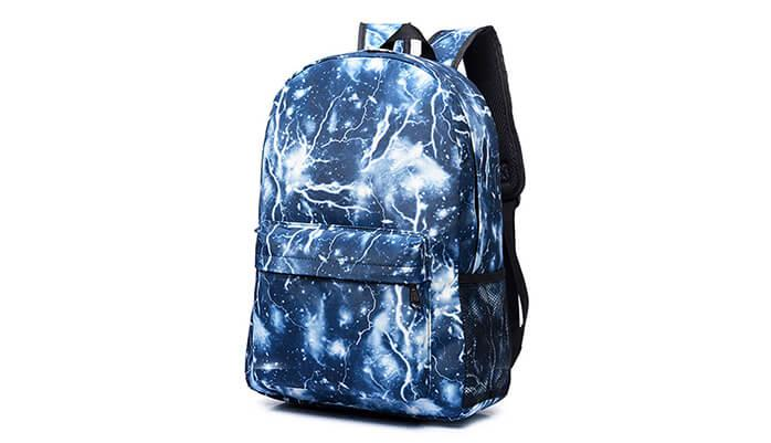 A backpack with a cool print