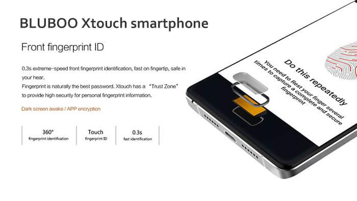 Solve BLUBOO Xtouch phone fingerprint identification issue