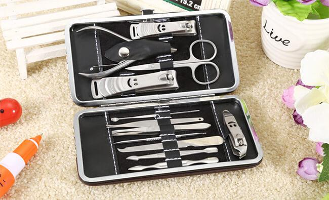 Stainless steel nail grooming kit
