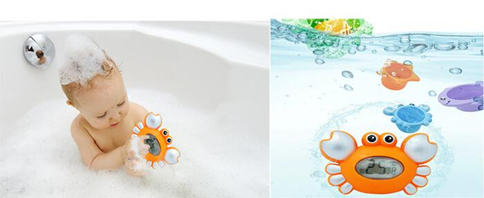 Crab Baby Bath Floating Tub Thermometer Toy