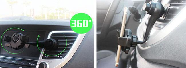double 360 degree rotation phone holder