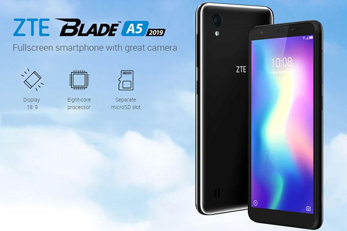ZTE Blade A5 2019: new input range with Android Pie Go and 2 GB RAM