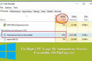 """How to stop high CPU/Disk usage from """"Antimalware Service ..."""