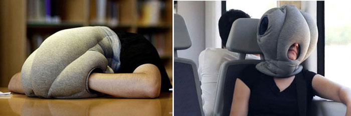 Sleeping Pillow Headrest Blinder