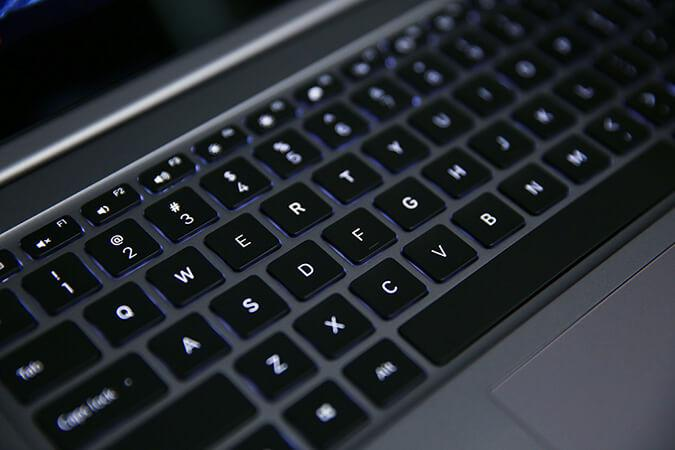backlit keyboard on Mi Notebook Pro