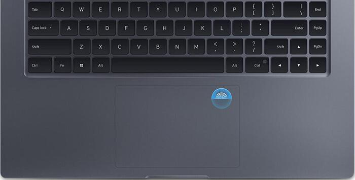 convenient fingerprint sensor on Mi Notebook Pro