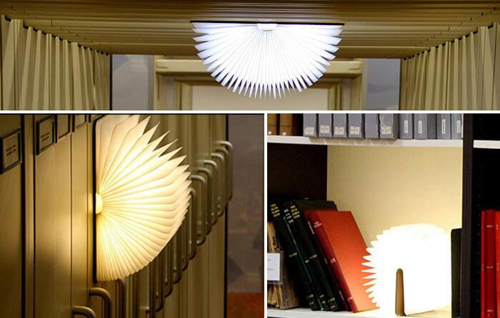 a variety of usages of book lamp