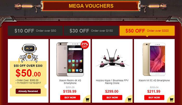 Black Friday Mega vouchers
