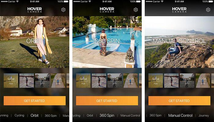 Intuitive APP of Hover Camera Passport