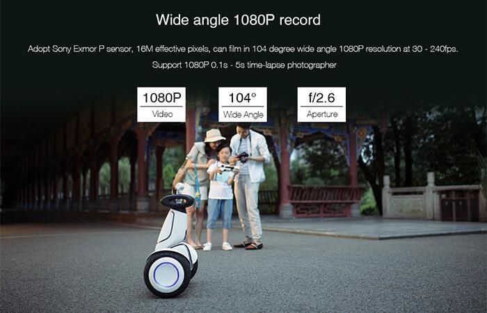 wide angel of Xiaomi 1080P HD Pan-tilt Camera