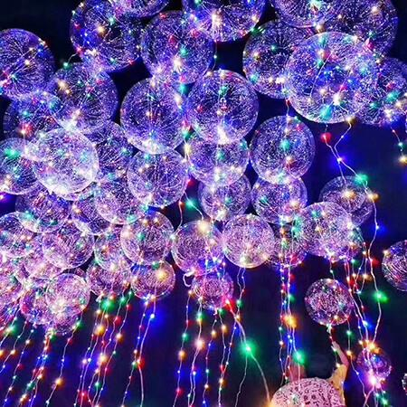 6 christmas light decoration ideas for indoors and outdoors the balloons are made of high quality pvc material which is both recyclable and environmentally friendly their bright led colors make them the perfect aloadofball Choice Image