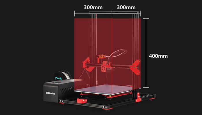 Alfawise U20 3D Printer size