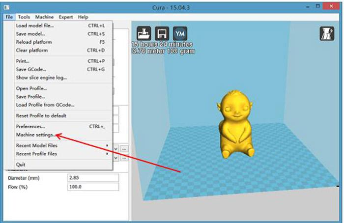 Cura 3D slicing software installation and operation