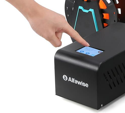 the 2.8 inch full color touch screen on Alfawise U20 3D printer