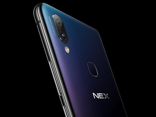 the back design and camera location on Vivo NEX 4G phablet